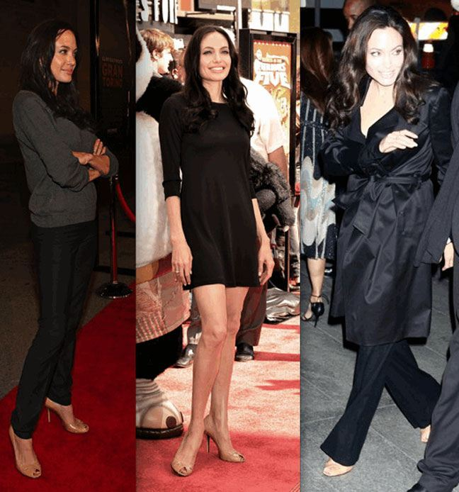 angelina jolie in nude pumps