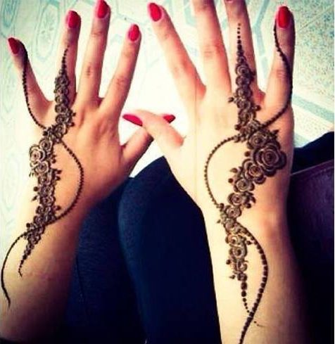 Arabic henna design for eid