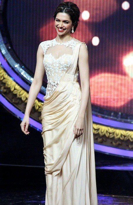 deepika padukone sheer saree blouse indian idol junior blouse