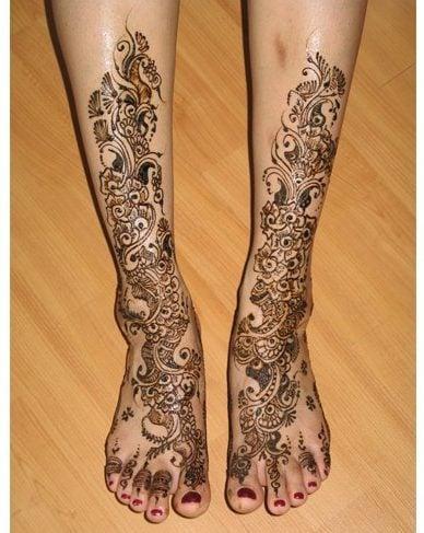 Eid Henna designs for legs