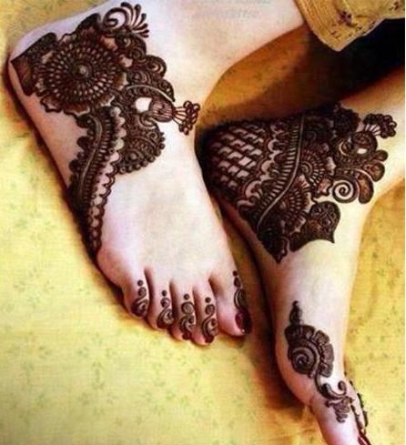 Eid mehndi designs for legs