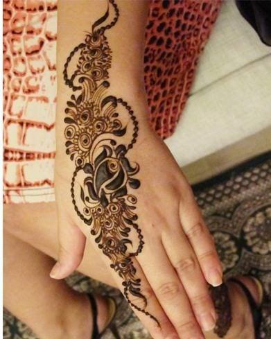 Flower mehndi design for eid
