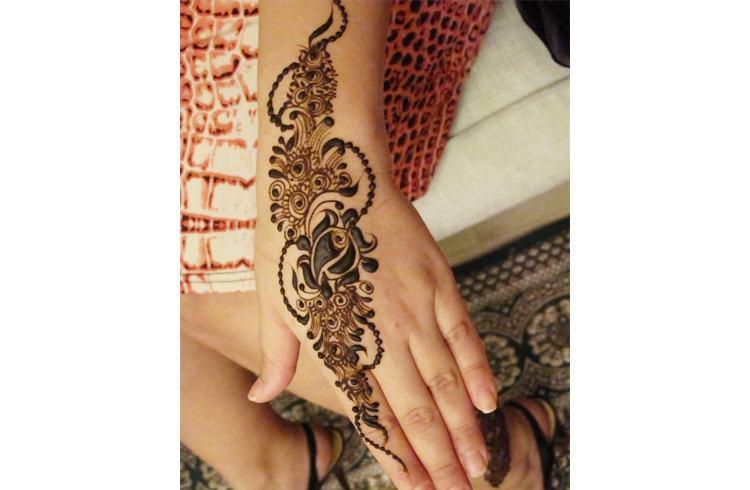 New Flower Mehndi : Henna mehndi rose design for eid makedes