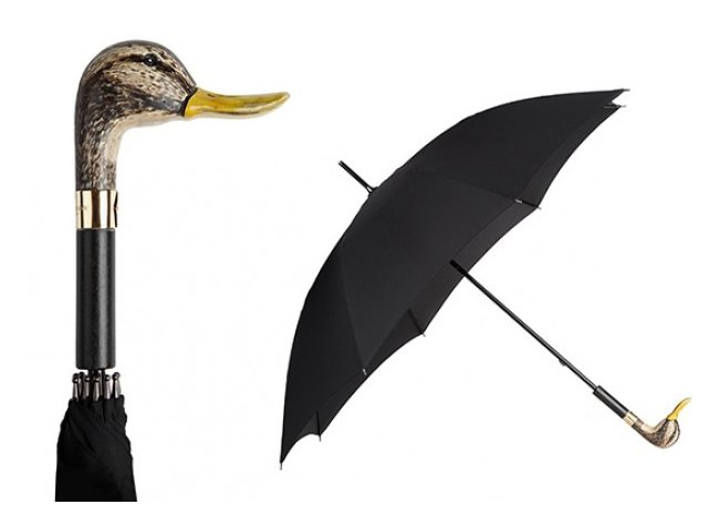 Burberry Umbrella with animal-head handle