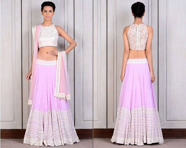 lilac georgette lehenga by Manish Malhotra for Bridesmaids