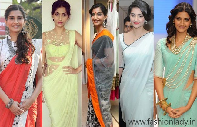 Most Gorgeous Saress Worn By Sonam Kapoor
