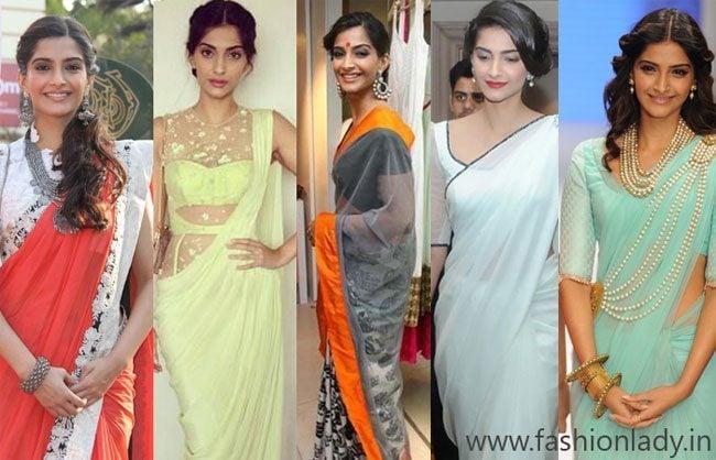 Most Gorgeous Saress Worn By Sonam Kapoor