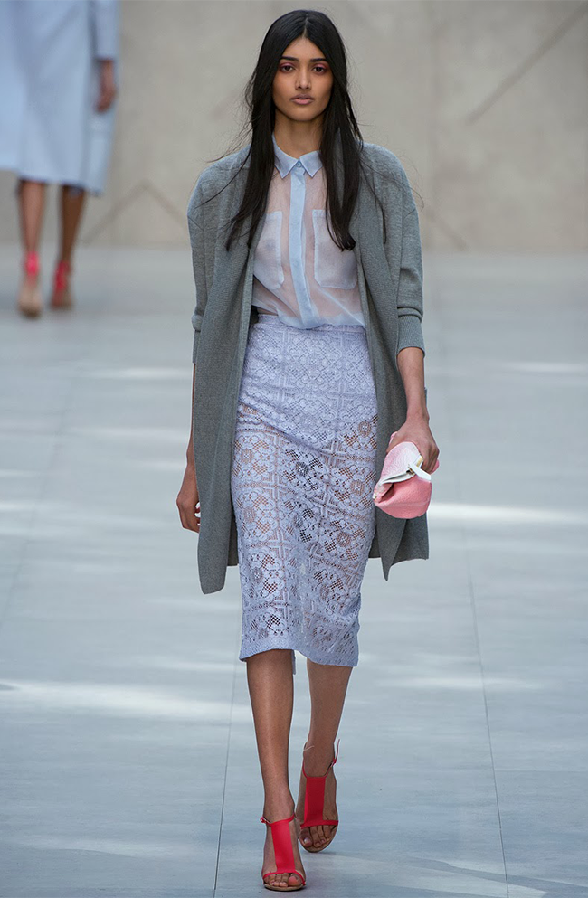 Burberry Takes Lace Fashion Trend SS14 to the Next Level