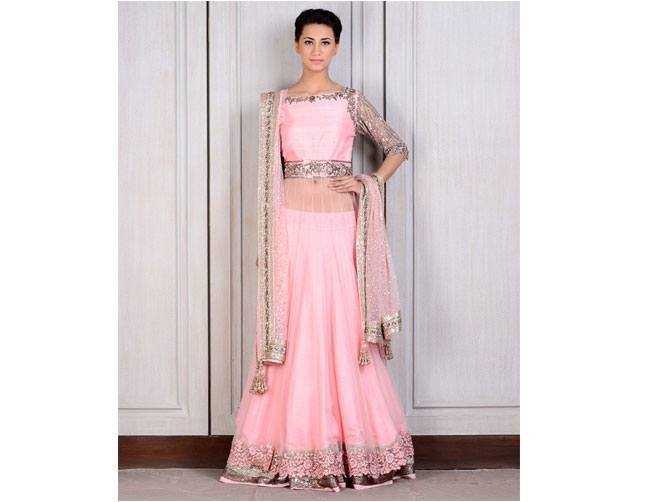 pretty pink lehenga for Manish Malhotra