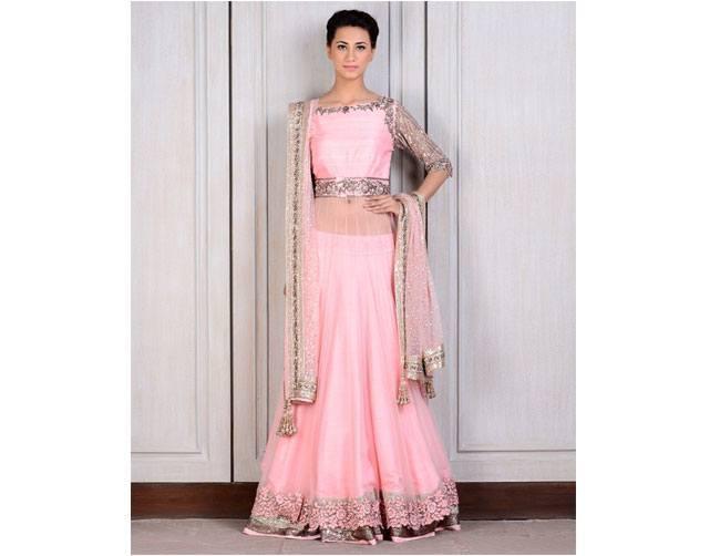 pretty pink lehenga for Manish Malhotra