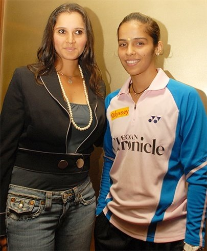 Sania Mirza and Saina Nehwal