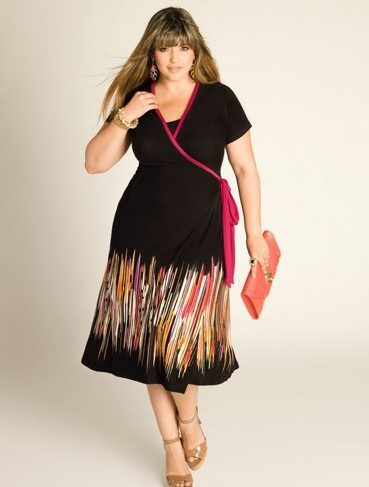 Wrap dresses for Large Bust Women