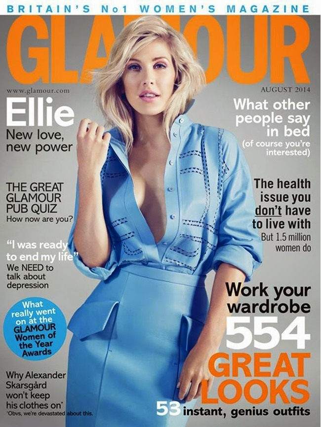 Ellie Goulding Featuring Glamour Magazine