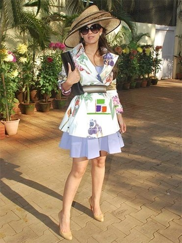 Natasha Poonawala at the HELLO Classic Derby Race