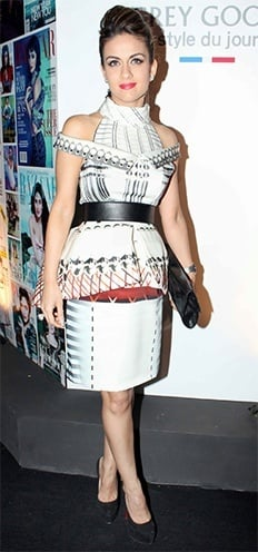 Natasha Poonawala in Mary Katrantzous