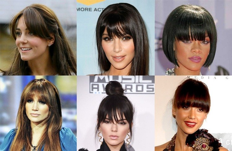 Celebrities Bang Hairstyles