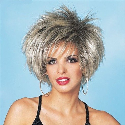 Spiky Short Hairstyle with bangs