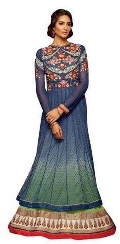 Anarkali Semi Stitched Suit With Dupatta