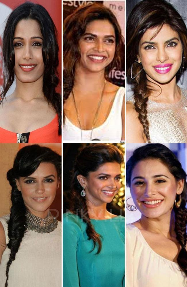 Bollywood celebrities and the Fishtail Braid