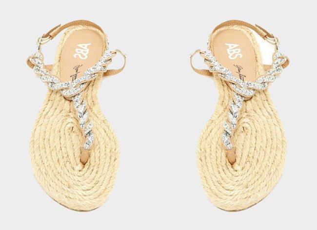 Embellished Espadrille Sandals