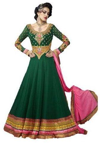 Latest Embroidered Full Sleeve Anarkali Suit
