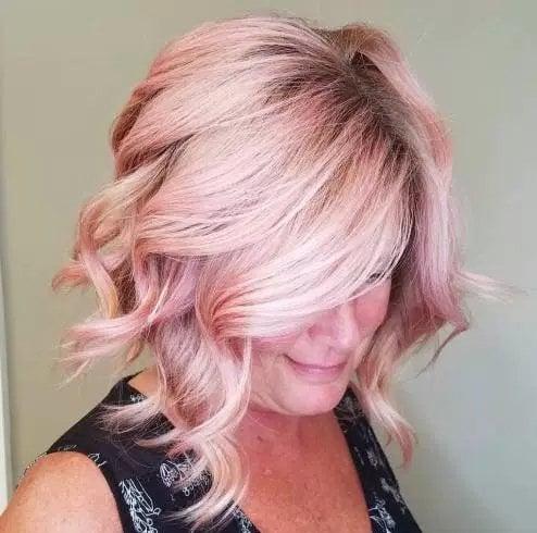 Pastel Pink-a-line Lob
