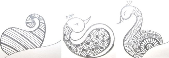Peacock henna
