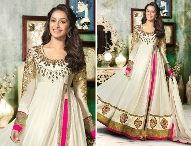 Shraddha kapoor in awesome floor touch anarkali
