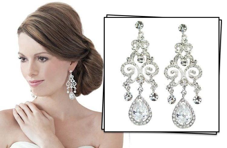 Anjelica swarovski chandelier earrings