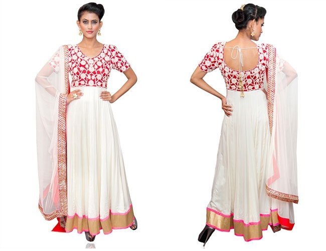 off white cotton zanaaya anarkali