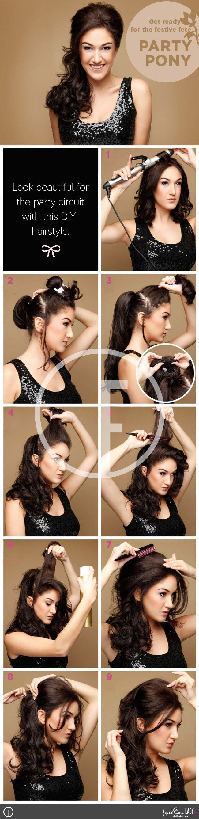 Party Pony - A new Stylish Ponytail Hairstyle for the Party-full Lady