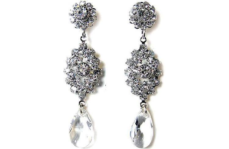 Swarovski vintage chandelier earrings