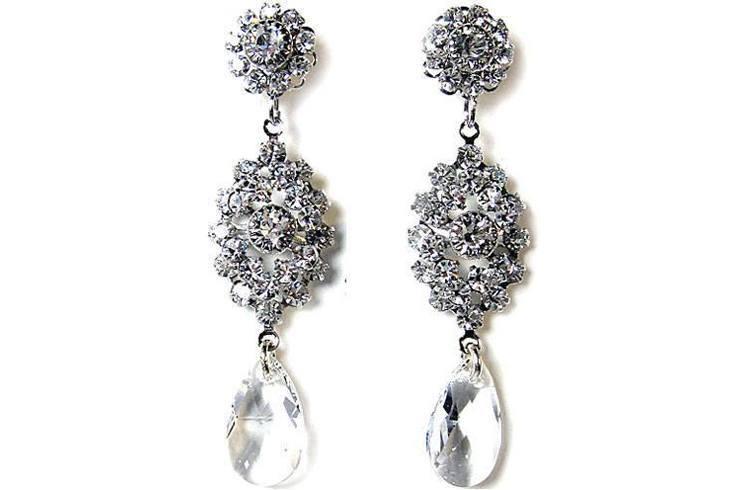 Swarovski vintage chandelier earrings