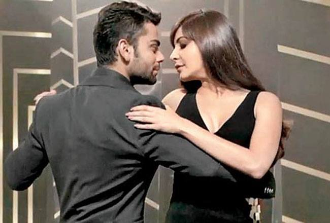 Anushkha Sharma and Virat Kohli
