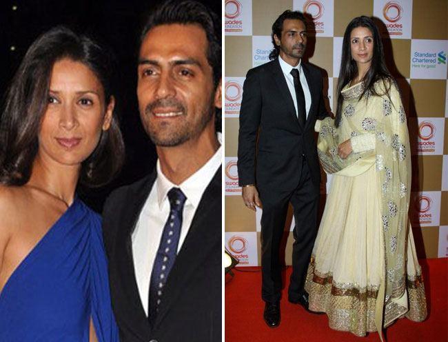 3. Arjun Rampal and Mehr Jesia