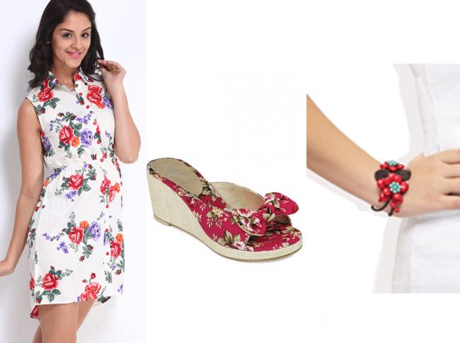 Breezy Floral Print Dress