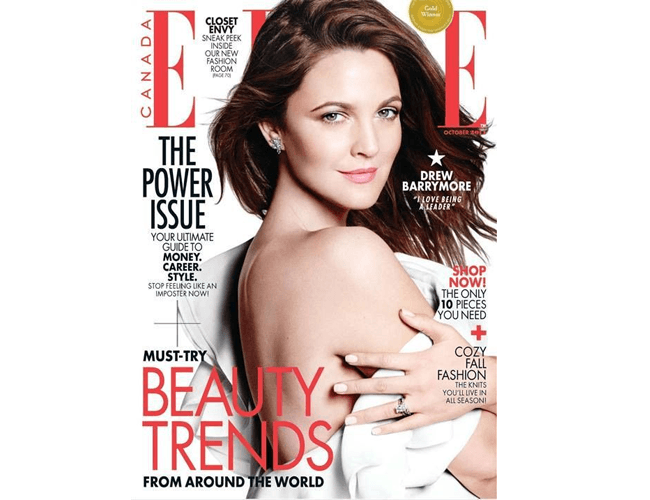 Drew Barrymore in Elle (Canada)