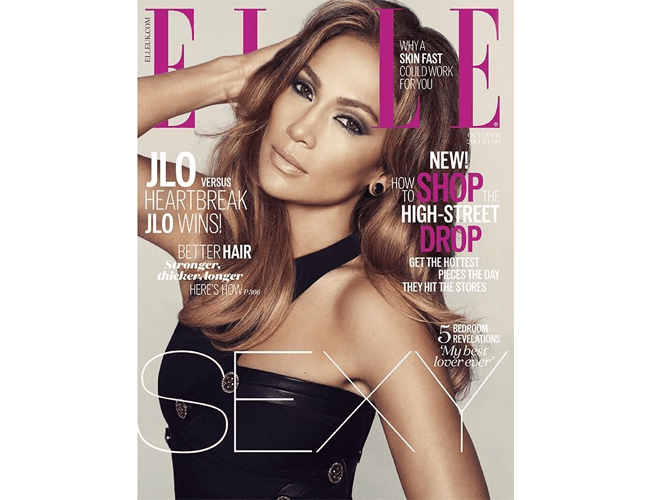 Jennifer Lopez in Elle (UK)