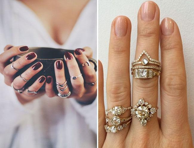Rock Stacked Finger Rings