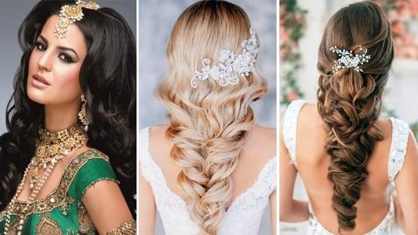 Western Hair Styles: Wedding Hairstyles For Long Hair: Western & Indian Bridal