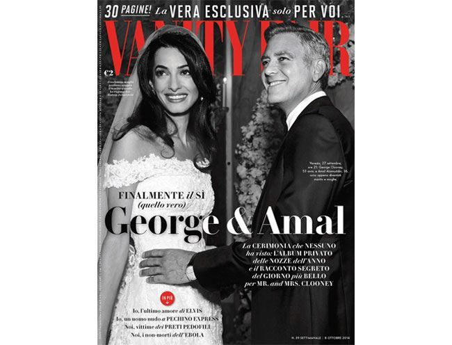 amal alamuddin george clooney vanity fair italy 2014 cover