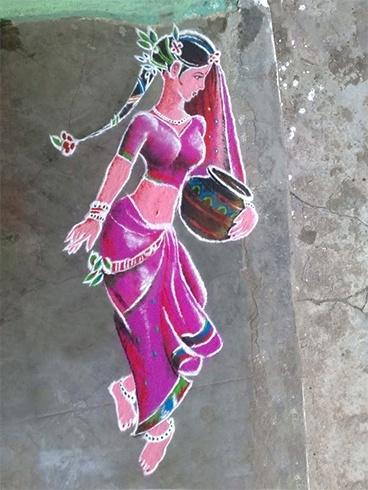 Artistic rangoli design