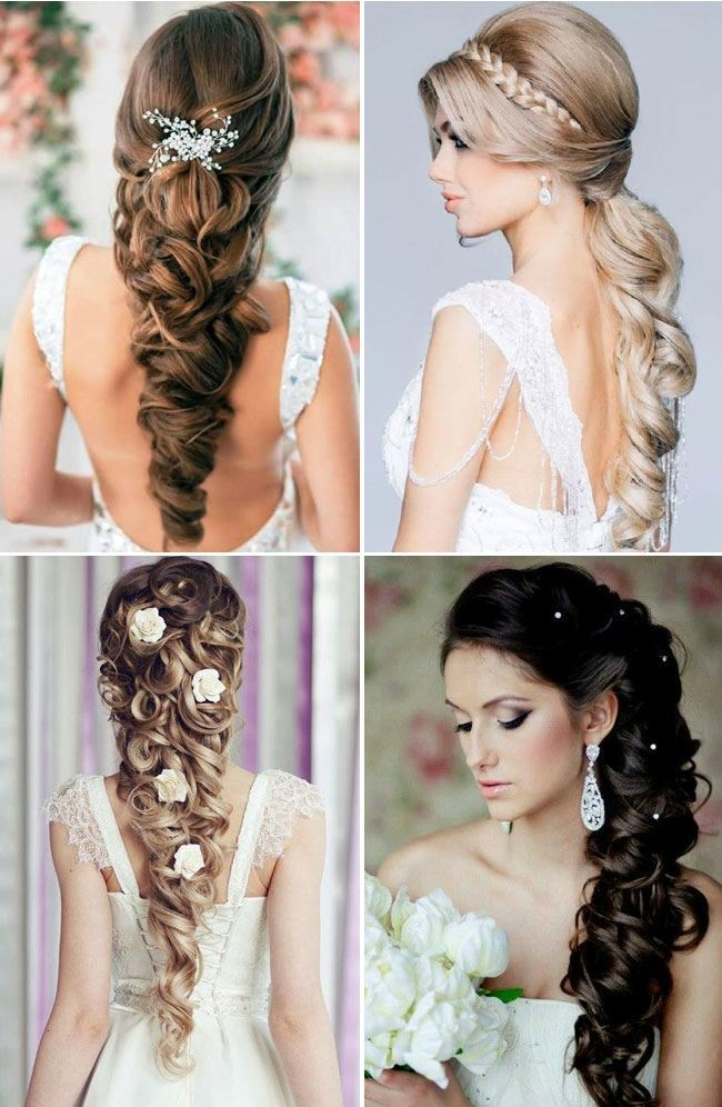 Stupendous Wedding Hairstyles For Long Hair Western Amp Indian Bridal Hairstyles Short Hairstyles For Black Women Fulllsitofus