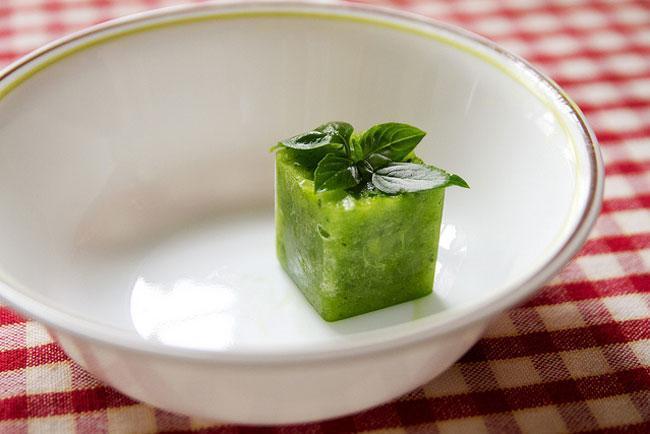 cucumber ice cube