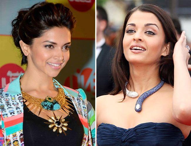 deepika dadukone and aishwarya statement necklace