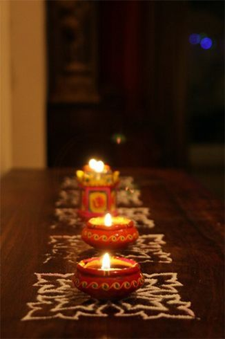 Diwali decorating
