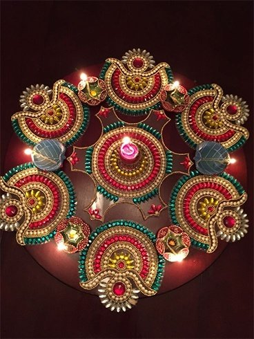 Decoración de Diwali