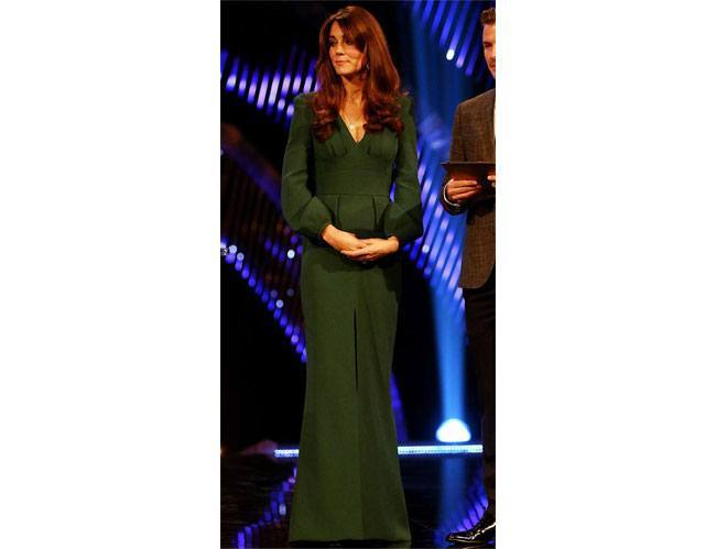 floor length forest green colour