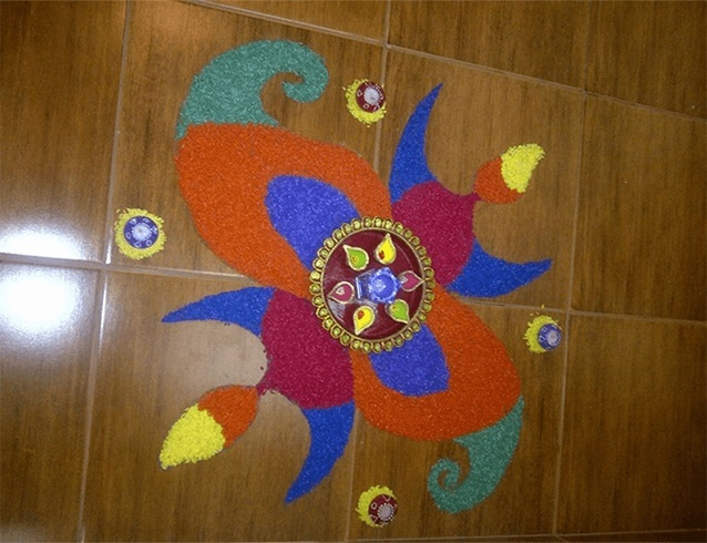 Indoor rangoli