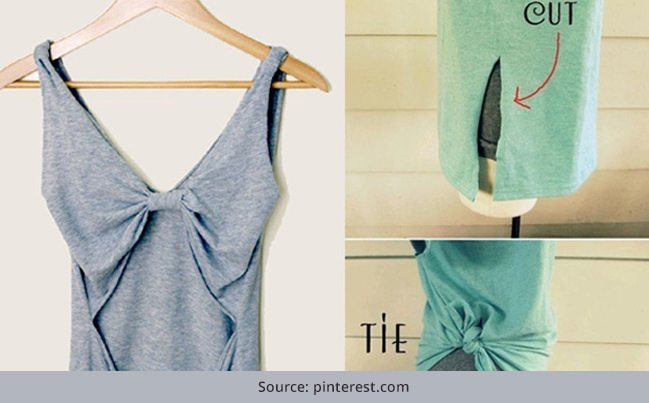 27 diy t shirt cutting ideas to try on your old outfits for Diy t shirt design
